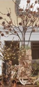 новогодний декор своими руками из веток и шишек
